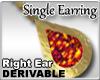 Amber Earring Right Ear