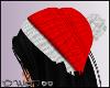 D- Beanie Red Pom