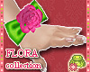 ! FLORA pink DOLL gloves