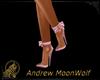 Dainty Bow Heels Pink