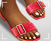 ṩSummer Slippers Red