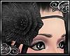 'E FlowerHeadband: black