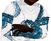 Blue African Top
