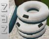 (ZaZ) Tube Stack Aqua