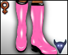 PVC boots pink (f)