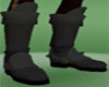 Black armored boots