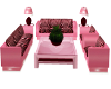 $A$ pink zebra couch