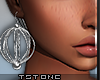 T. Silver Earrings