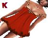 K. BabyDoll Dress Orange