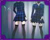 (IS) Blue Plaid Dress