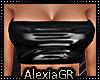 [A] Sexy Black PVC Top