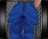 [L] BLUE CARGO PANTS
