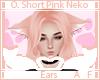 O. Pink Neko Ears