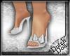 DD Satin Slippers White