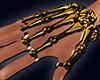 Orange Skeleton Hand M&F