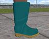 Teal Rain Boots (M)