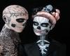 skull love blood