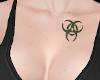 Tattoo Chest BioHaz Grn