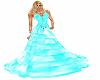 vestido azul abs