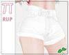  Pi  White Shorts