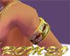 brazalete diamante oro