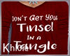 K xmas tinsle tangle
