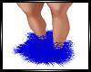 ROYAL BLUE FUR BOOTS