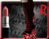 gothic skull boots red