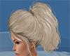blonde hair ponytail