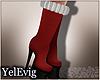[Y] Xmas red boots