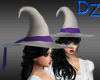 White & Purple Witch Hat