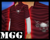 M Skull Red Polo Shirt