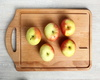 Healthy Apples On Tray