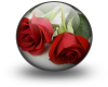 Roses In Glass Ball
