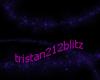 Purple sparkly swirl