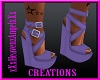 Purple Ruffles Shoes
