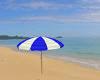 Beach Umbrella blue/whit