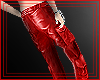 Red Leather Cargos