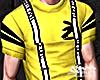 Yellow Tee + Suspenders