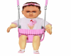Pink baby w/swing