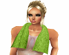 layer green neck towel