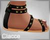 C black white sandals