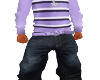 Purple Stripe Baggy Jean