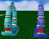 Kids Blue Rocking Fish