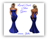Laced Back Blue Gown