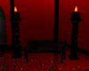 Seat black/red