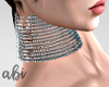 Silver| Choker -Necklace