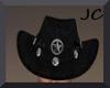 ~Black Cowboy Hat w/trig