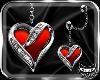 ! HeartRedEarrings