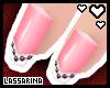 !L Pink Stud Nails